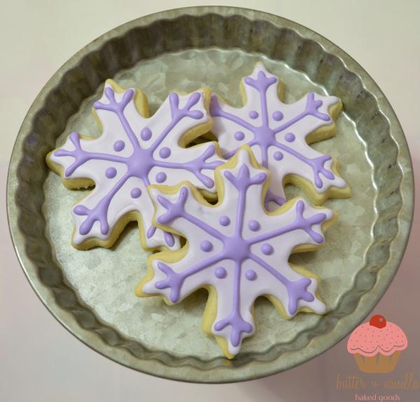 Butter + Vanilla Baked Goods, Calgary Alberta, Custom Cakes, Cupcakes, Cookies, Calgary Bakery, Snowflake Cookies, Custom Cookies