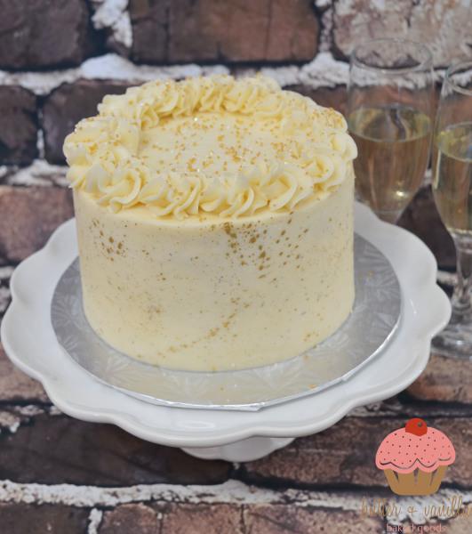 mimosa cake, calgary bakery, butter and vanilla baked goods, yyc bakery