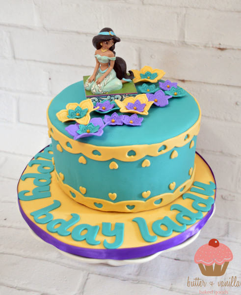 custom cake, butter + vanilla baked goods, calgary custom cakes, birthday cake, jasmine cake, yyc custom cakes