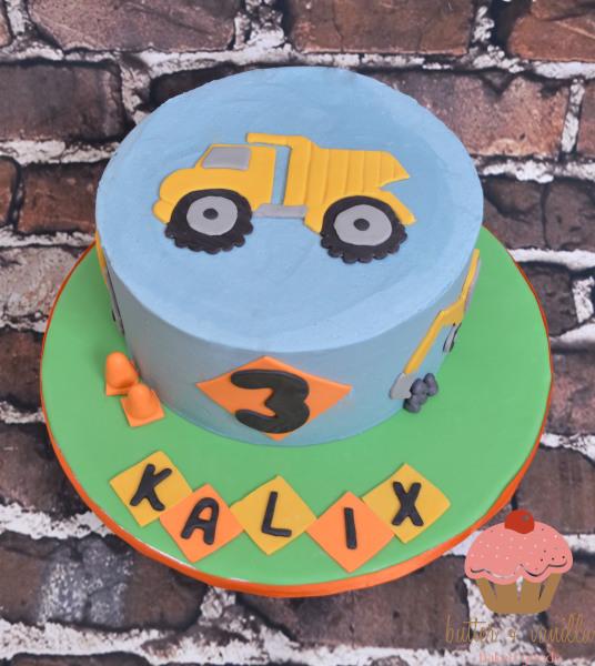 custom cake, butter + vanilla baked goods, calgary custom cakes, birthday cake, construction cake, yyc custom cakes