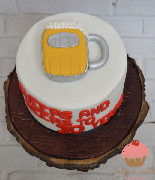 custom cake, butter + vanilla baked goods, calgary custom cakes, birthday cake, beer cake, yyc custom cakes