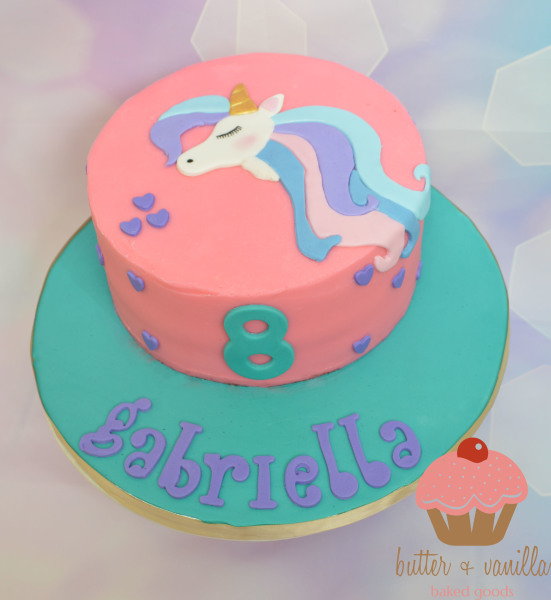 custom cake, butter + vanilla baked goods, calgary custom cakes, birthday cake, fox cake, yyc custom cakes, unicorn cake