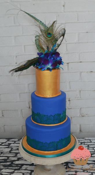 custom cake, butter + vanilla baked goods, calgary custom cakes, wedding cake, peacock cake, yyc custom cakes