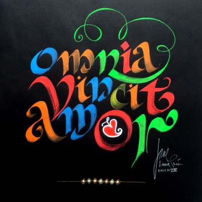 Jaime de Albarracín     Title: Omnia     Price: $1,670    Size: 14 x 14	Medium: Gouache on Black Paper
