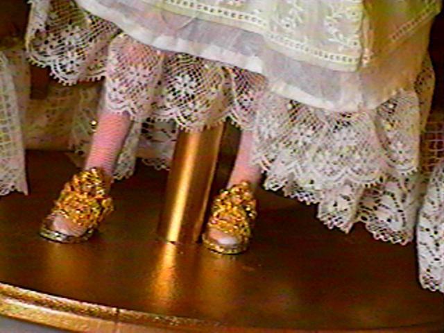 """""""Oh Dem Golden Slippers"""", Court slippers, #0161  $9.95"""