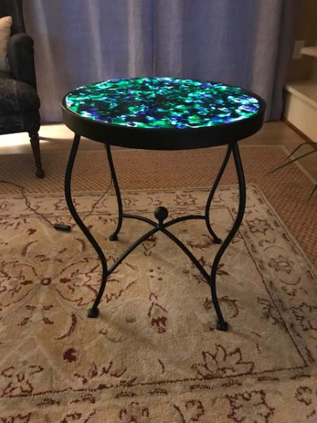 Fused Glass Occasional Table