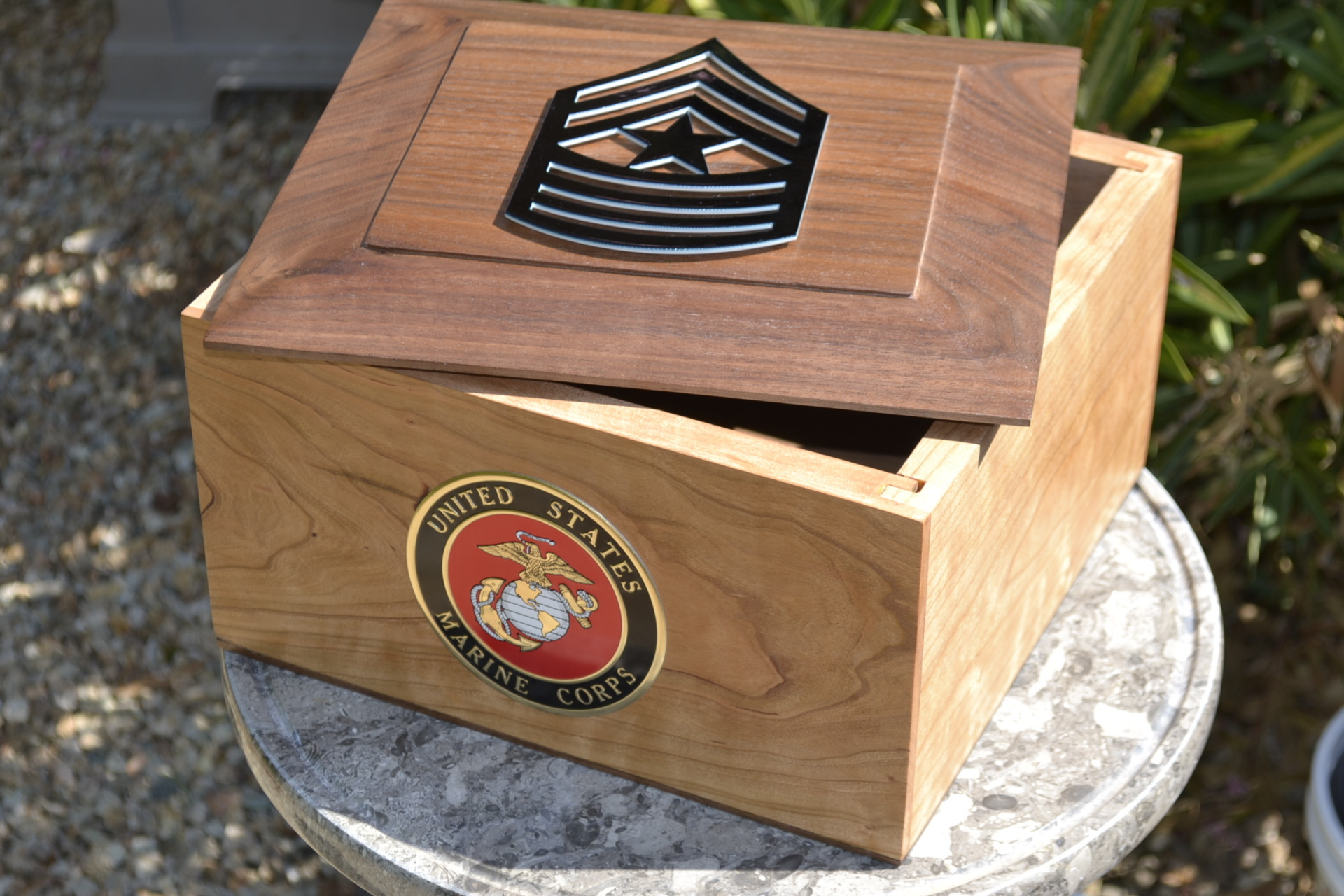 Wooden Military Urn