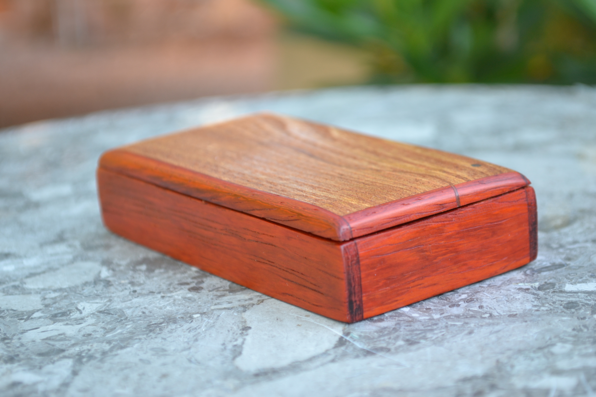 Hand-crafted wooden box