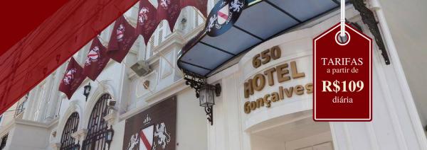 Hotel Gonçalves em Porto Alegre barato e confortável