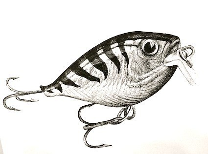 Rapala, Ink drawing