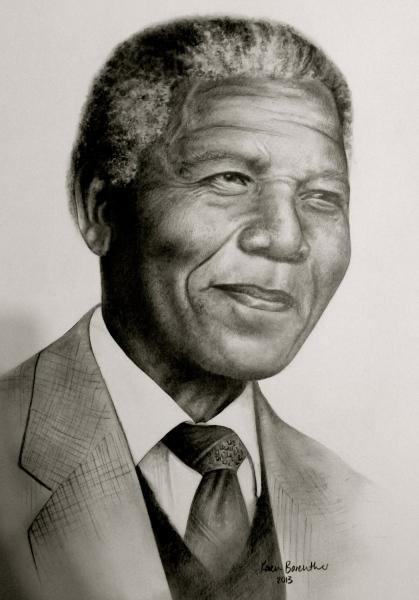 Nelson Mandela, pencil
