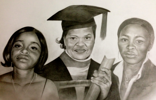 graduation triple portrait