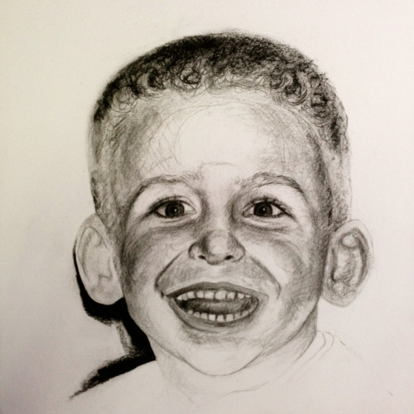 Diego, charcoal