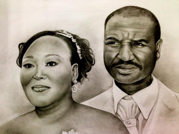 Wedding day, pencil