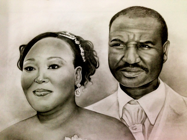 Wedding day, pencil