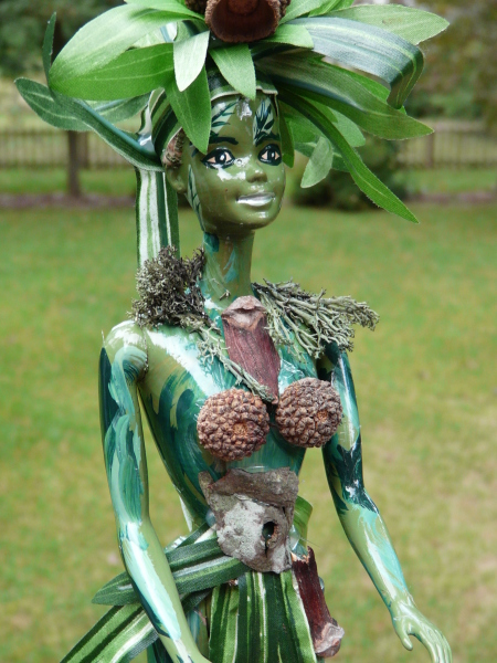 Close up of Woodland Barbie
