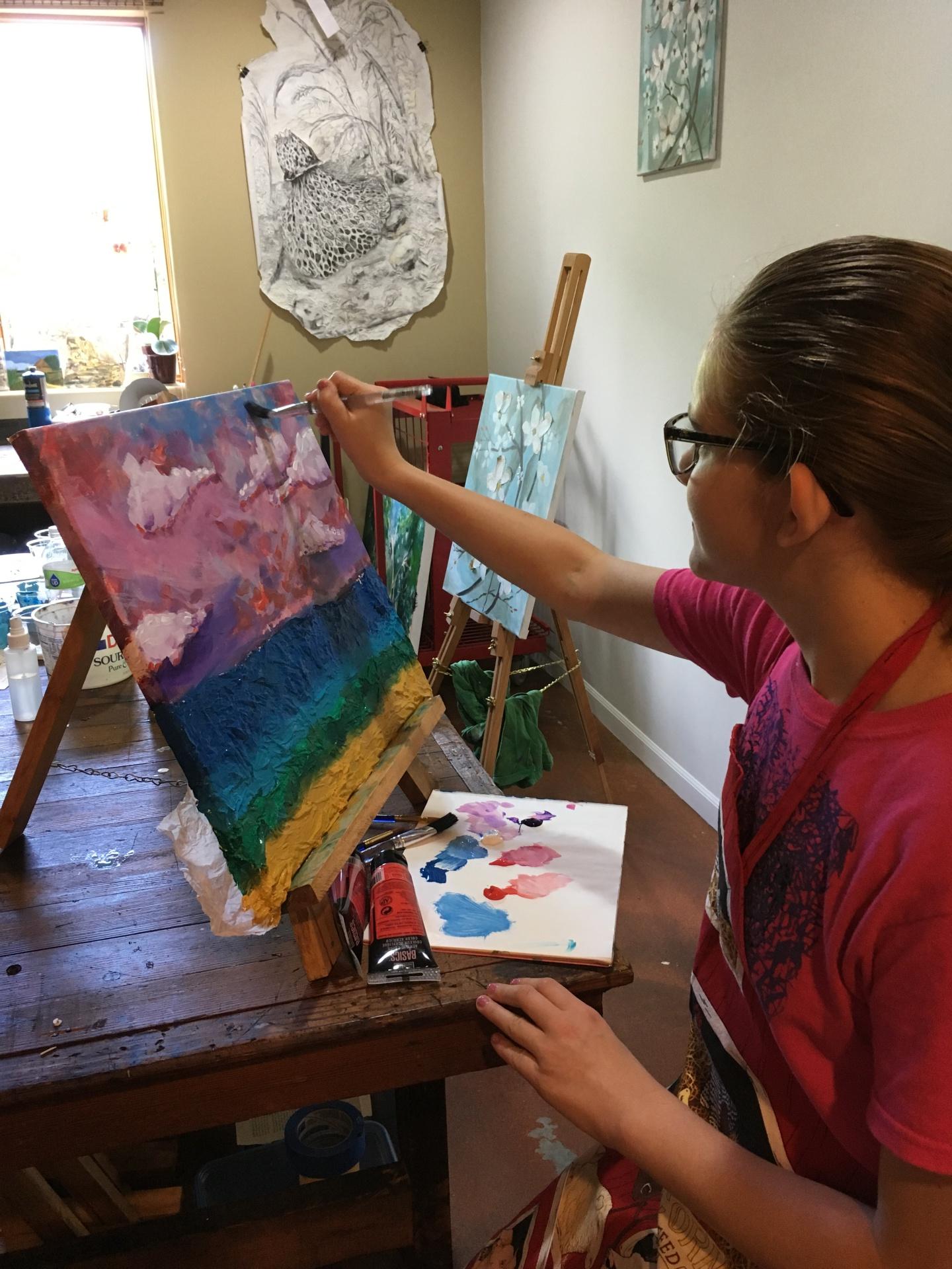 Ilana painting