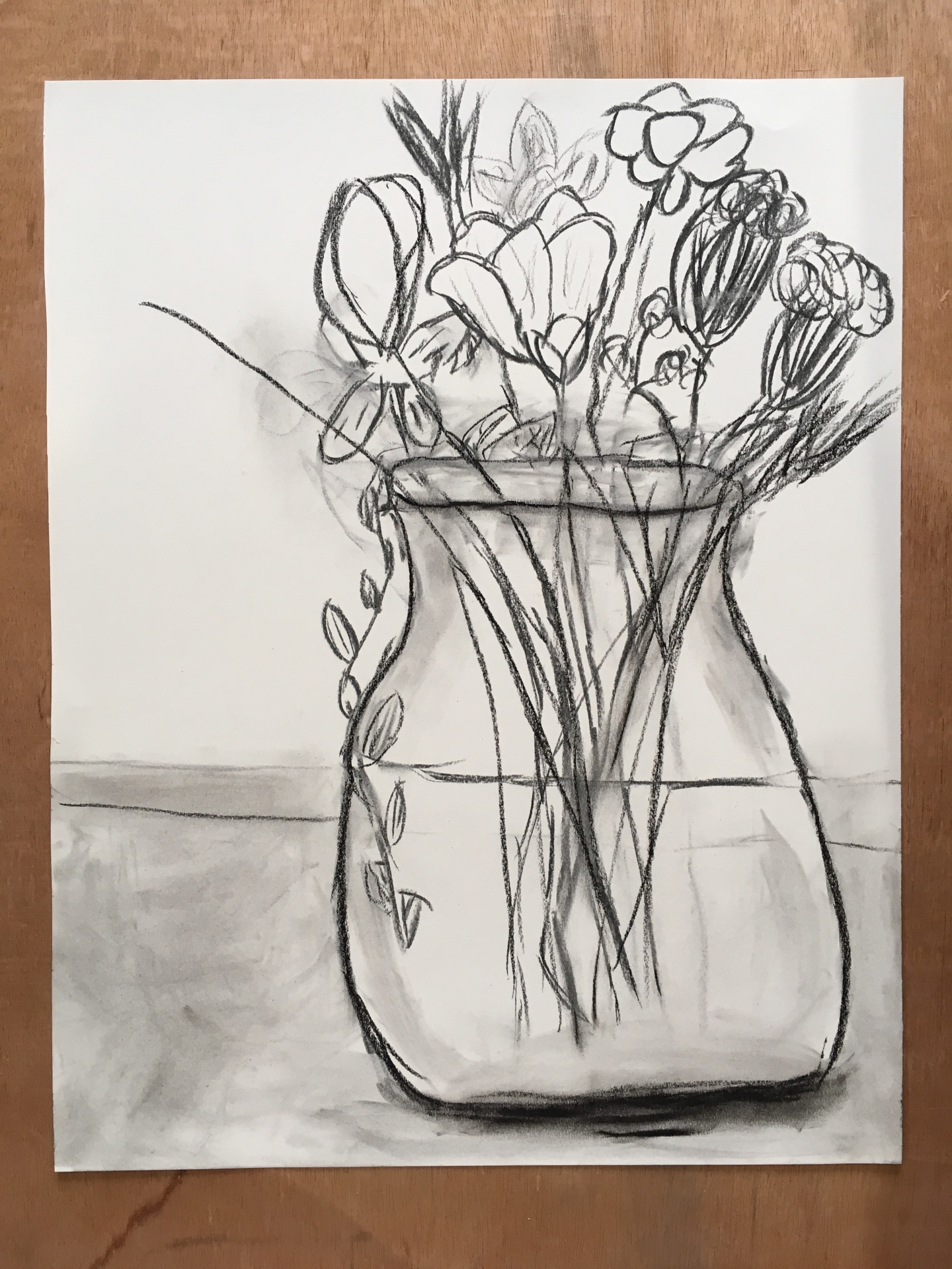 Cate's Charcoal Drawing