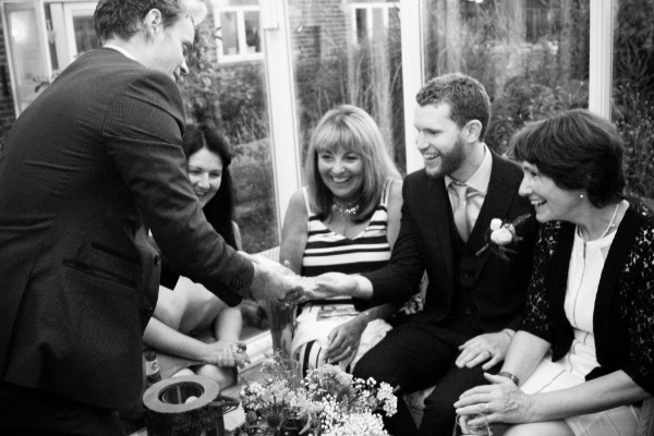 Wedding Magician Danny Jewell performs magic at a Manchester Wedding