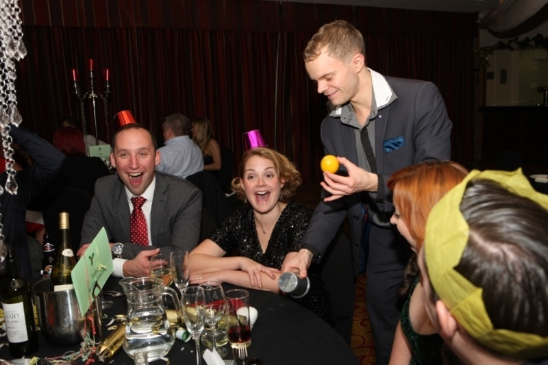 Danny Jewell Manchester Magician makes lemon appear at party