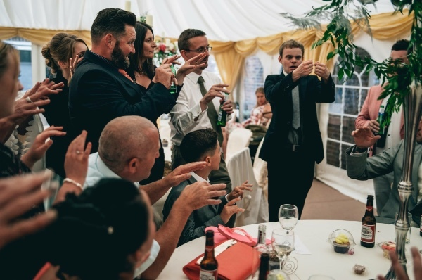 Manchester Wedding Magician performs for wedding guests at Delamere manor