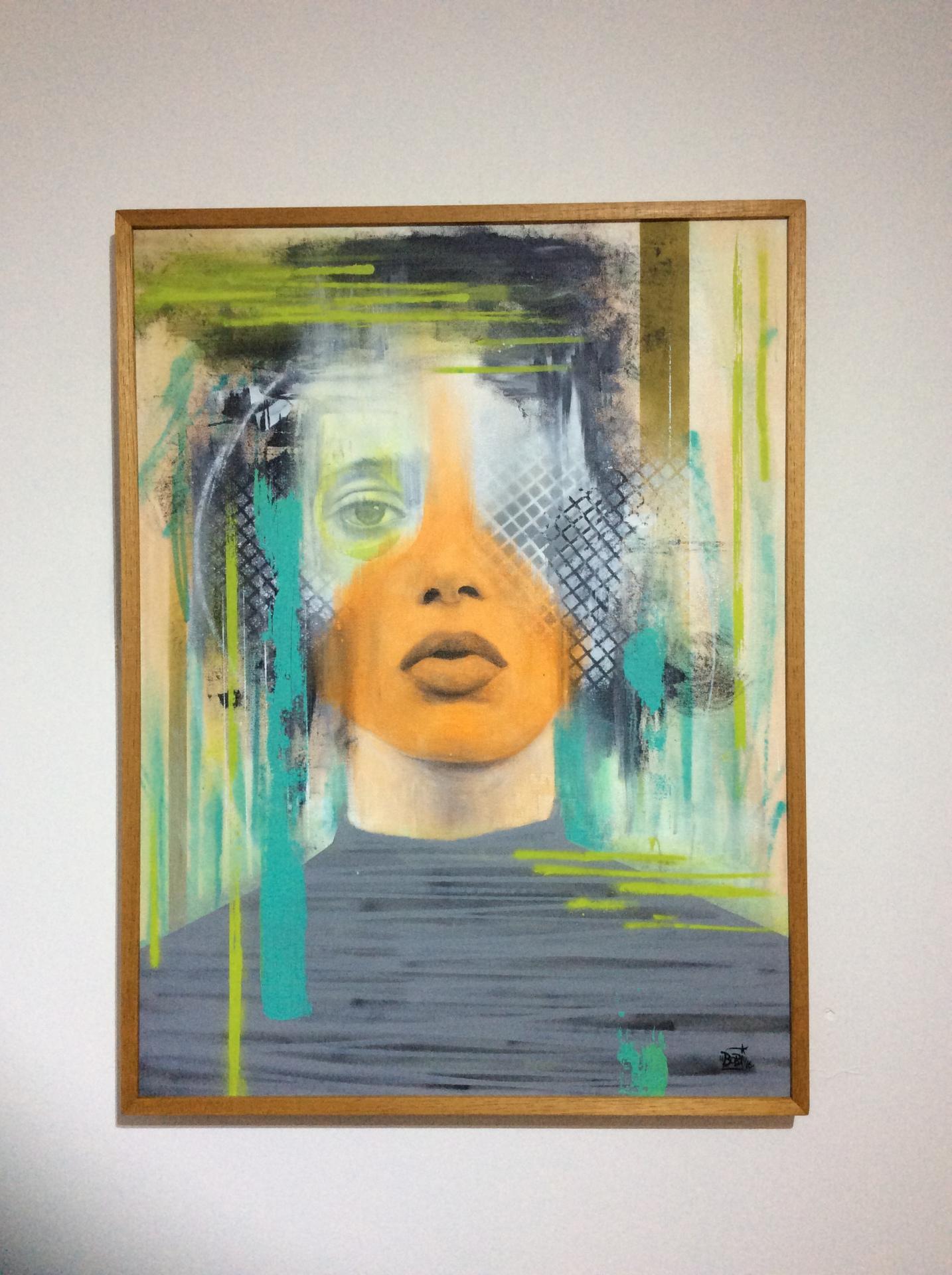 Saudade / Tamanho: 80x60 cm Técnica: Acrilica e spray sobre tela - Indisponível