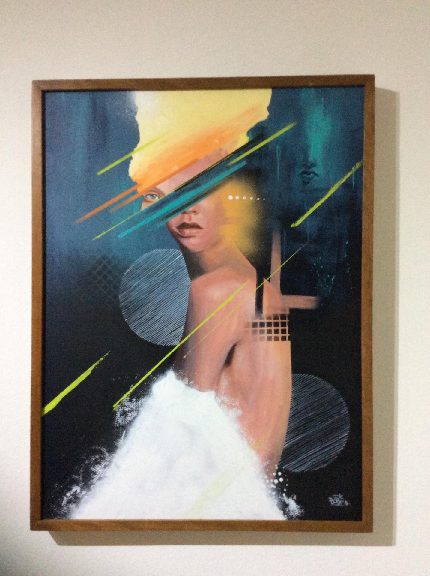 Desvio / Tamanho: 80x60 cm Técnica: Acrilica e spray sobre tela - Indisponível