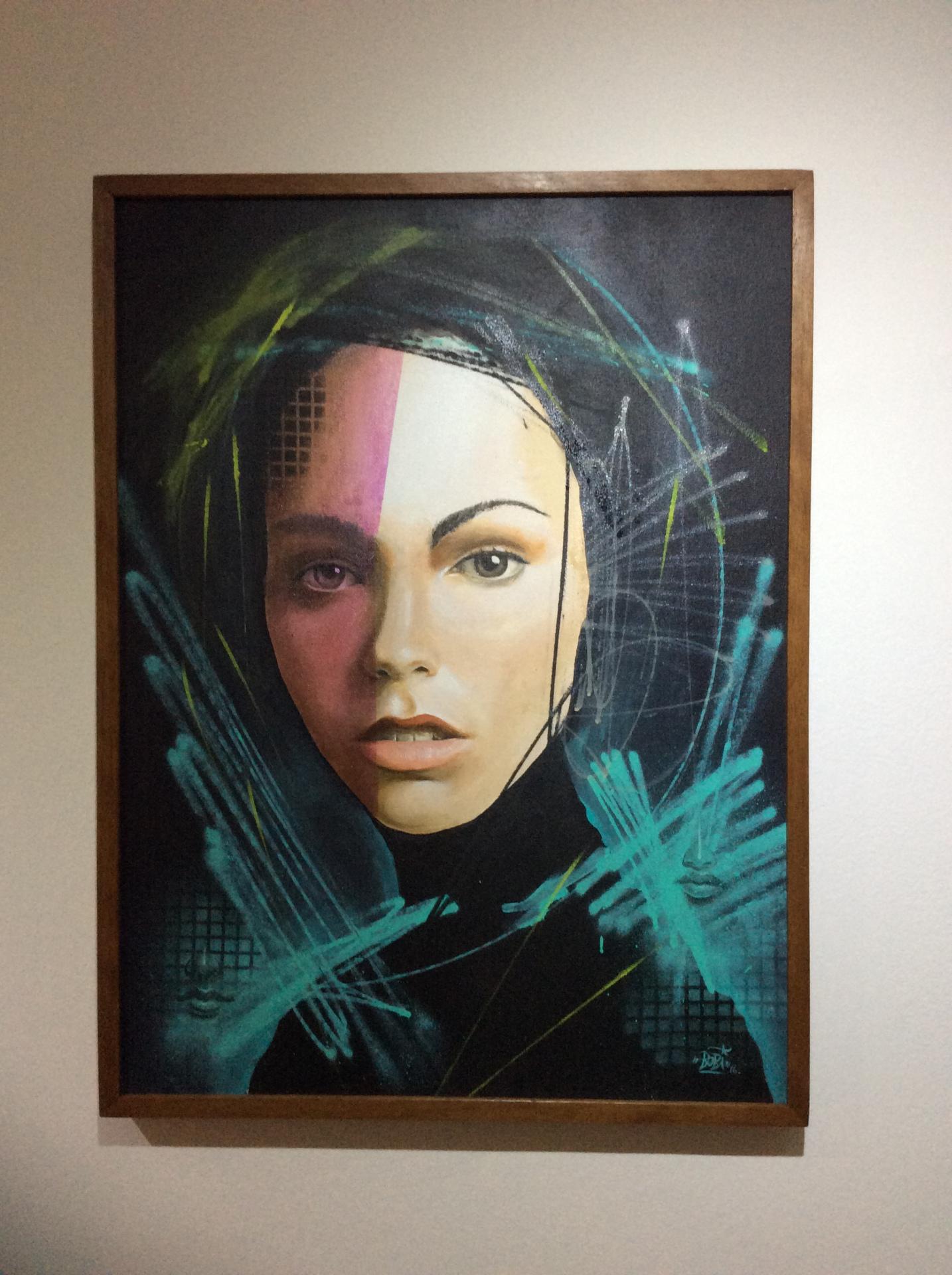 Tempo certo / Tamanho: 80x60 cm Técnica: Acrilica e spray sobre tela Disponível