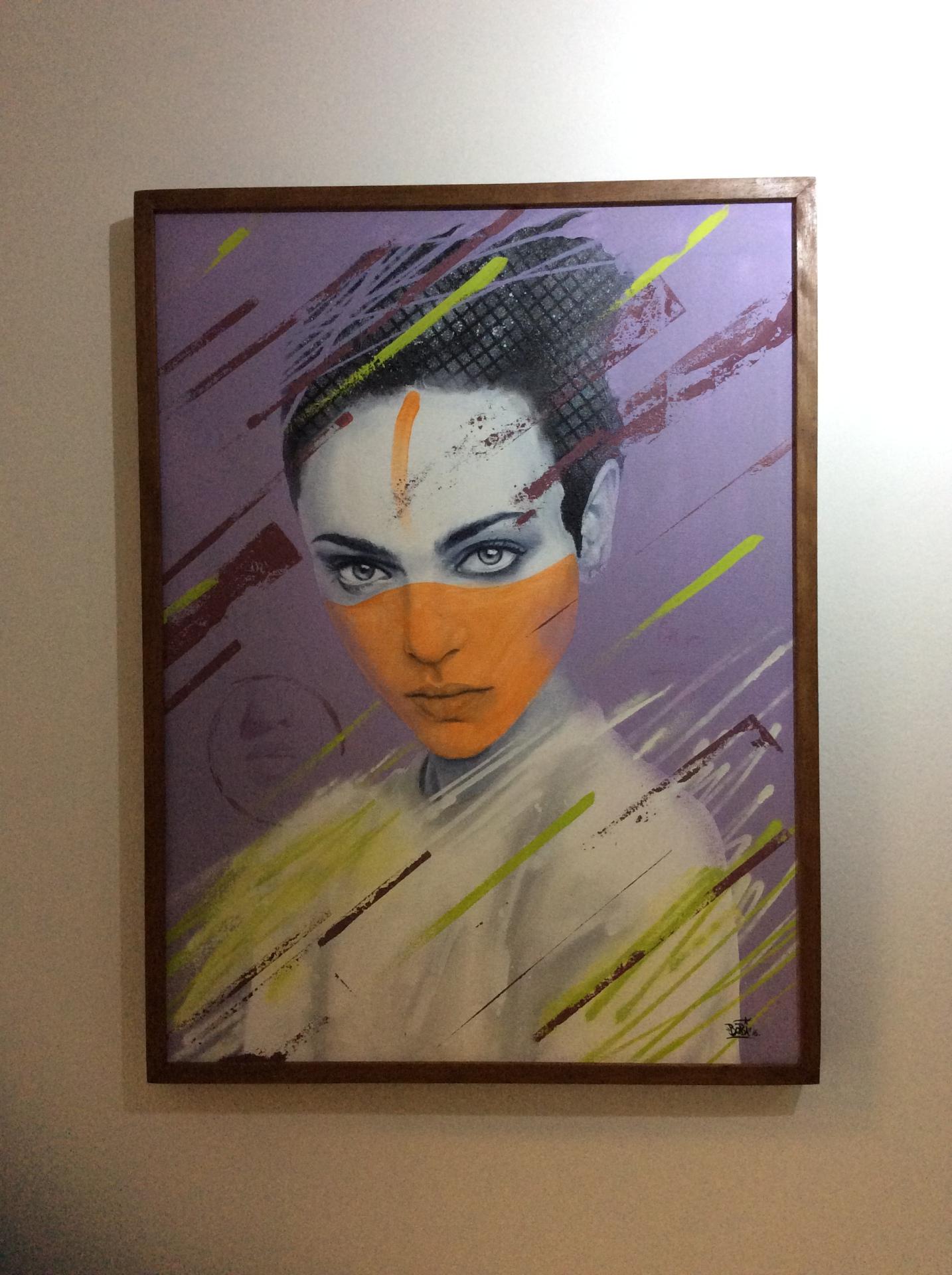 Puro Amor - Tamanho: 80x60 cm Técnica: Acrilica e spray sobre tela - Disponível