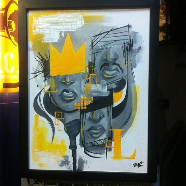 O reinado - Tamanho: 30x20 cm Técnica: Acrilica e spray sobre tela Indisponível