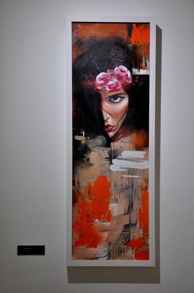 Intensidade / Tamanho: 90x30 cm Técnica: Acrilica e spray sobre tela - Disponível