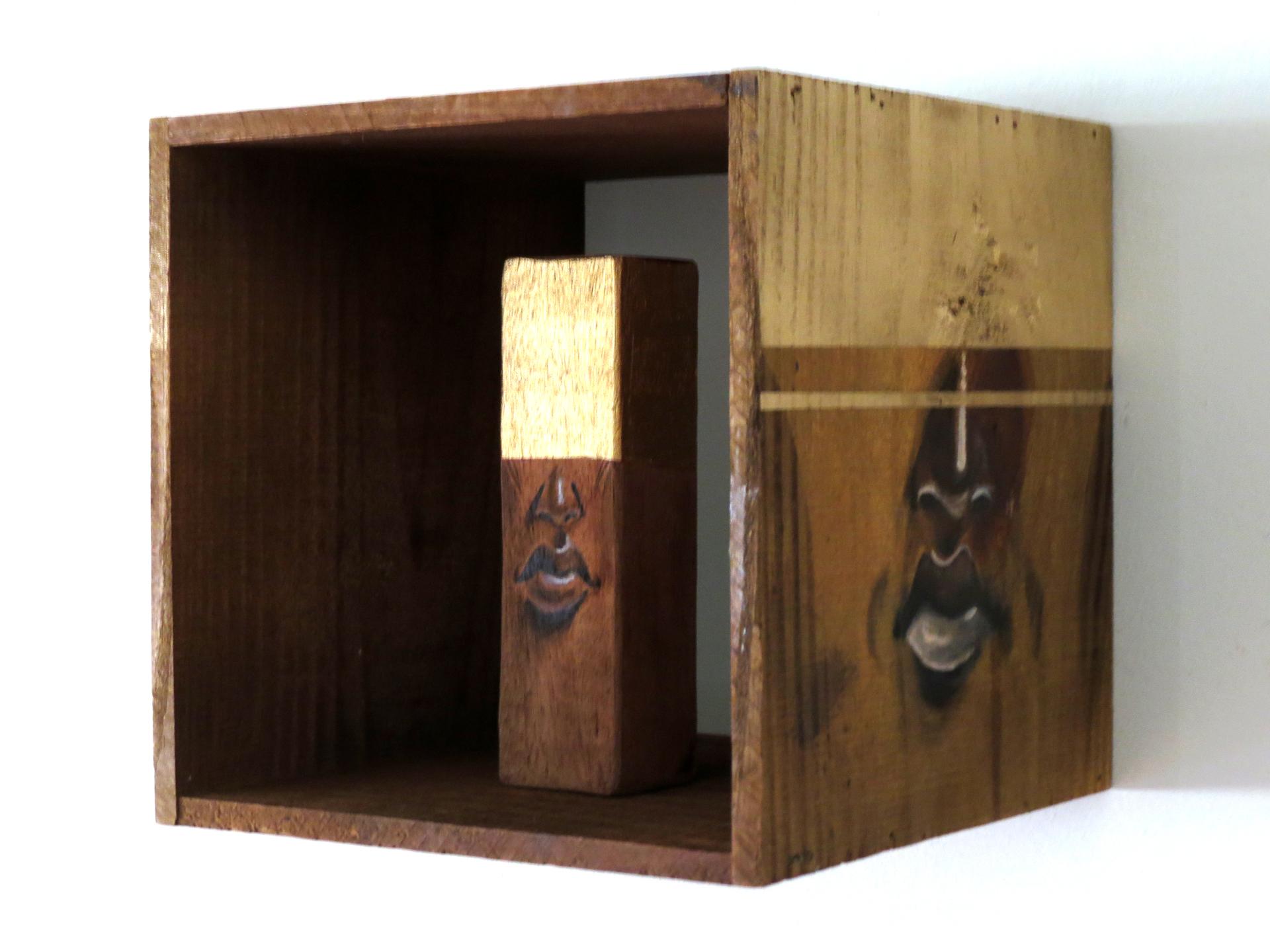 Tamanho: 10x10 cm Técnica: Acrilica e spray sobre madeira - Indisponível