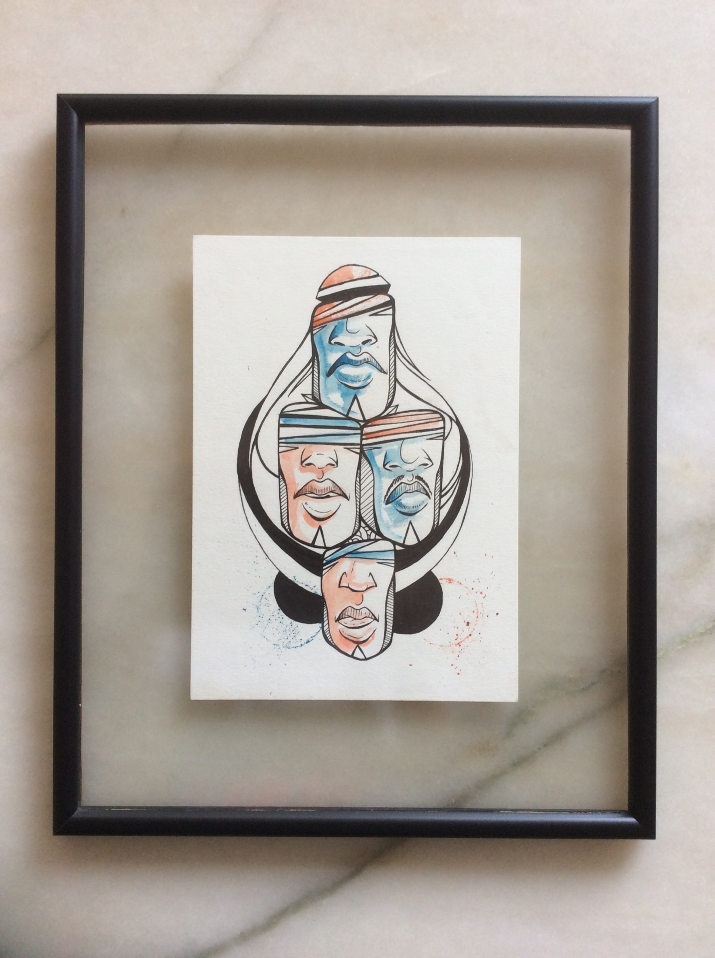 Ser Forte / Tamanho: 50x40 cm Técnica: nanquin e aquarela sobre papel grain. Indisponível