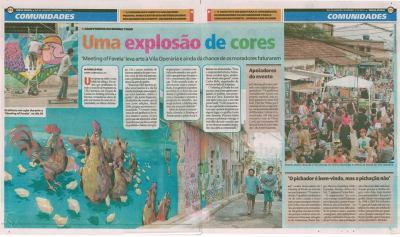 O Globo - Meeting of favela