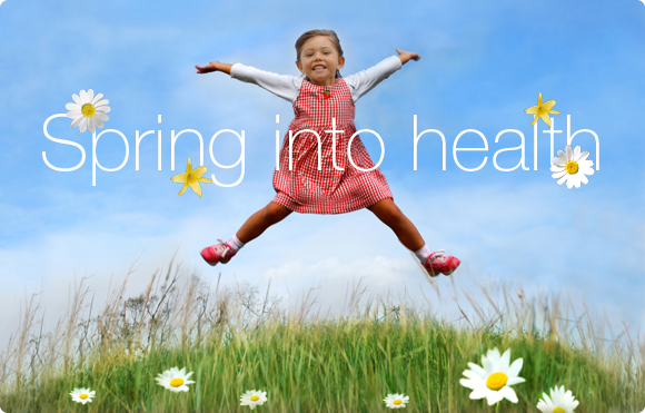 take action,spring into health