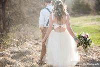 keyhole back wedding dress, short poofy gown, tulle, champagne, lace detailing, chantilly, hipster bride, boho princess, short wedding dress, rustic wedding, unique open back wedding dress