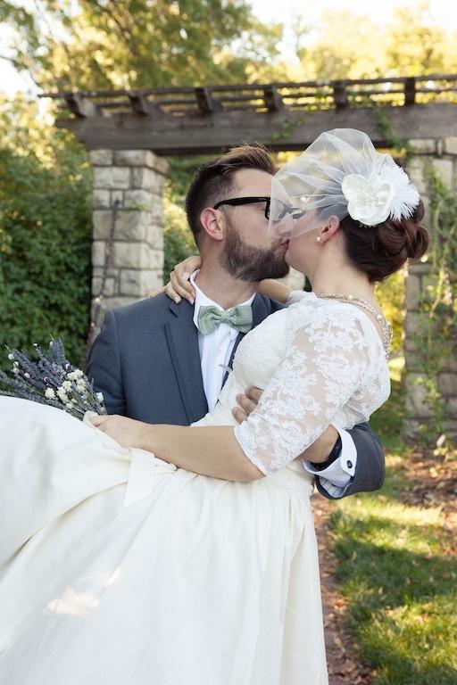 lace top, 50's style, natural waist, wedding gown with sleeves, lace sleeves organic wedding gown, birdcage veil, aline skirt wedding dress
