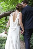 sheath silk wedding gown, sheath, silk crepe, cowl back 1920's gown, 20's sheath, low back wedding gown, open back wedding dress