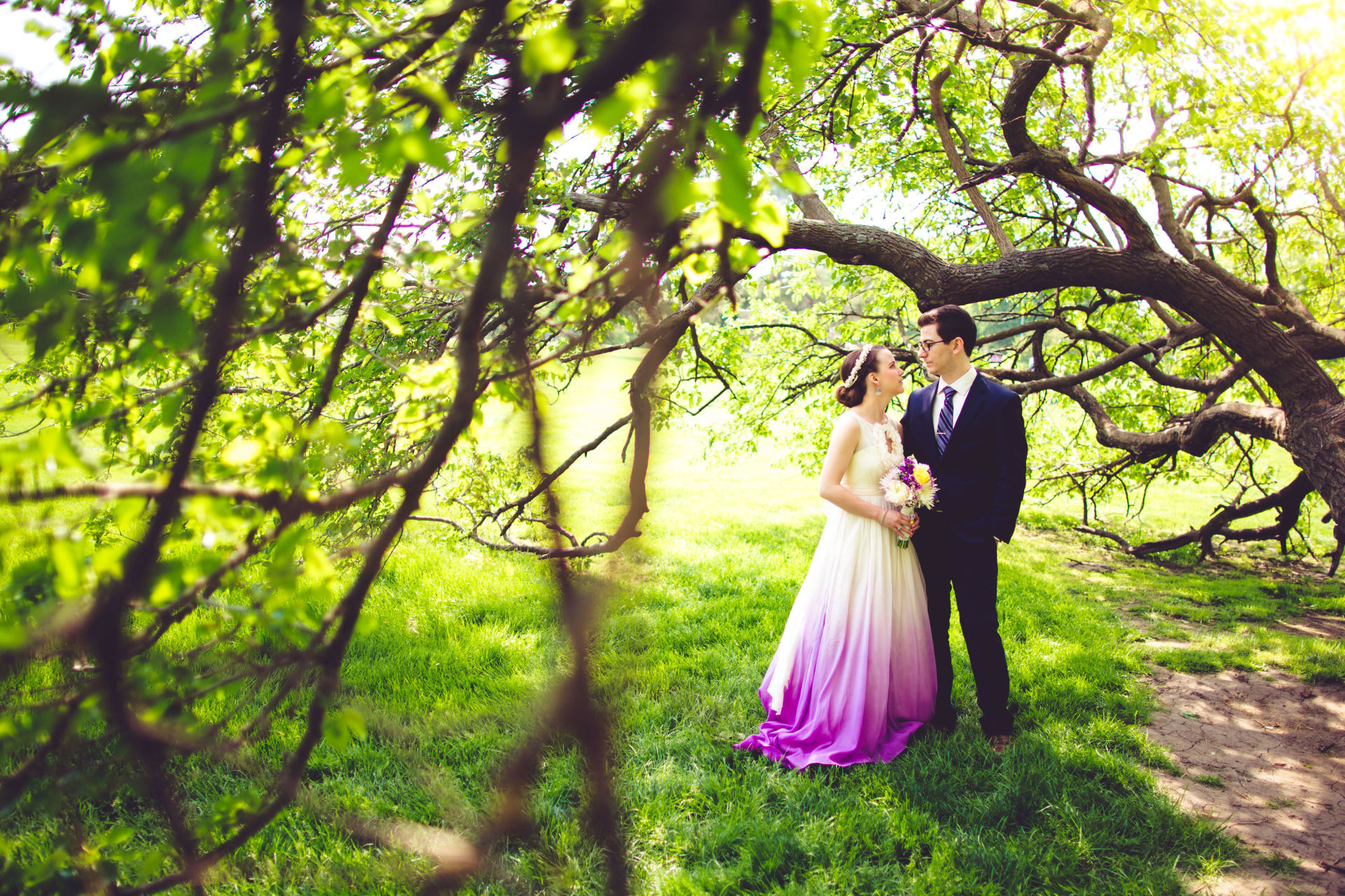 Sarah's Custom Ombre & Organic Cotton Gown