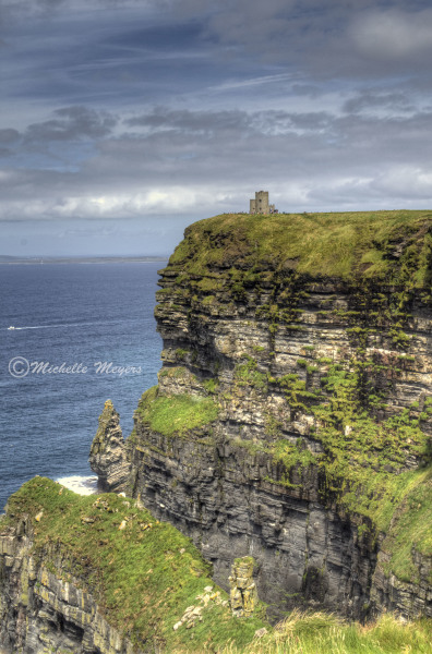 Castle on Cliffs of Moher