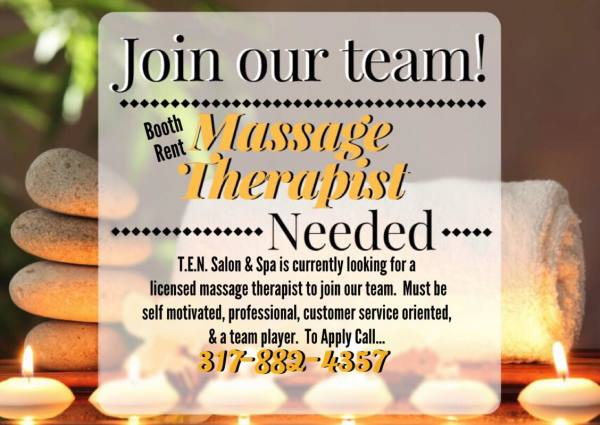Hiring Massage Therapist