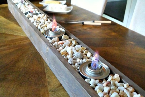 DIY S'mores table top roasting staition