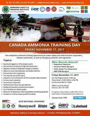 Ammonia Training Day