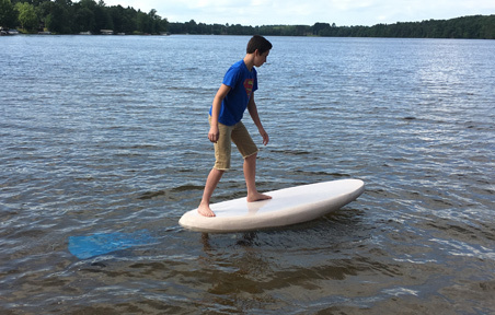 Superman Rides the Lakeboard