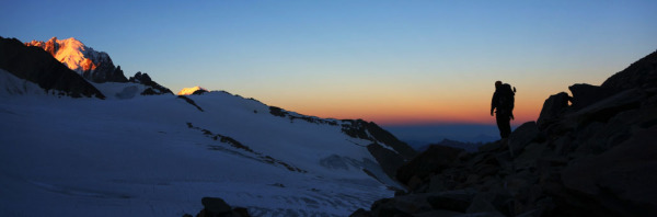 Fronteira França-Suíça Haute Route Chamonix-Zermatt 2013
