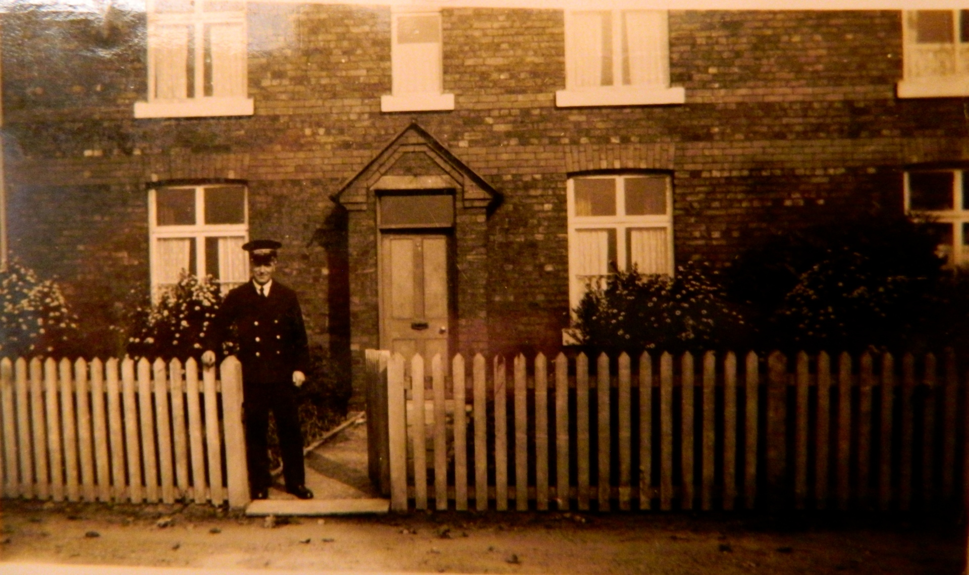 Station Master John Georgeson at Station House, 1935