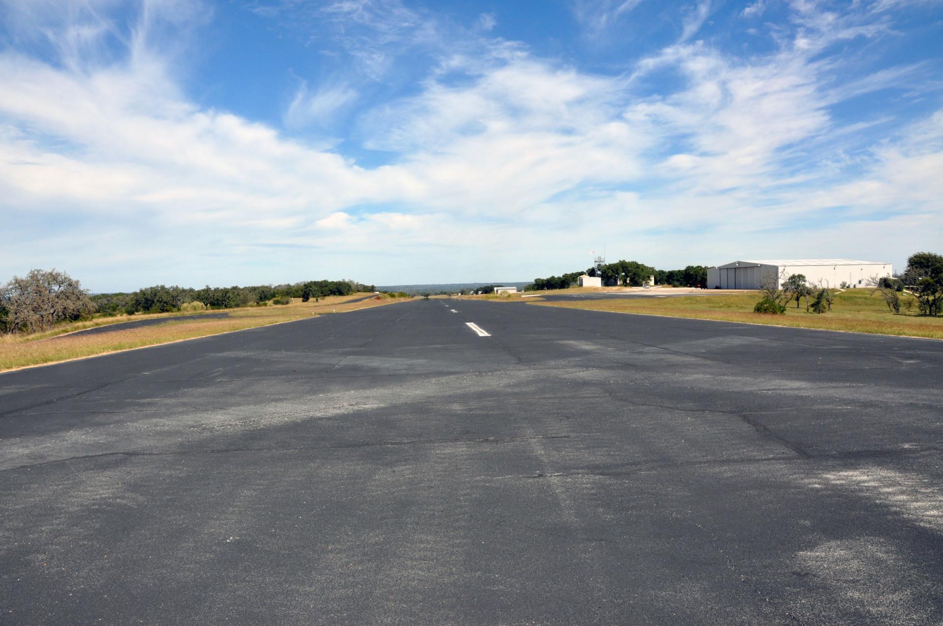 Paved asphalt runway