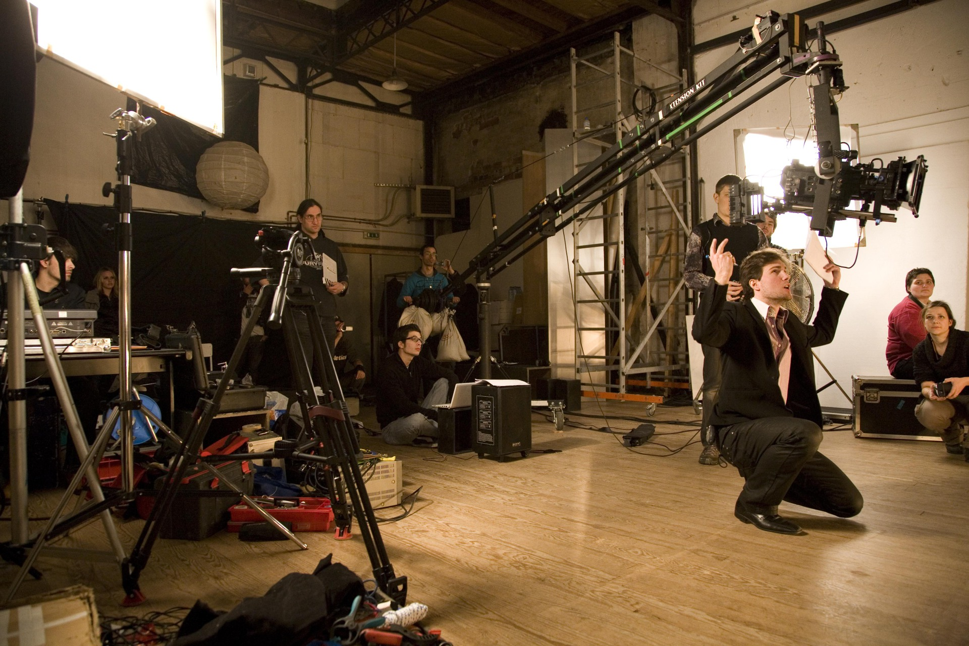 Matt directing during a take