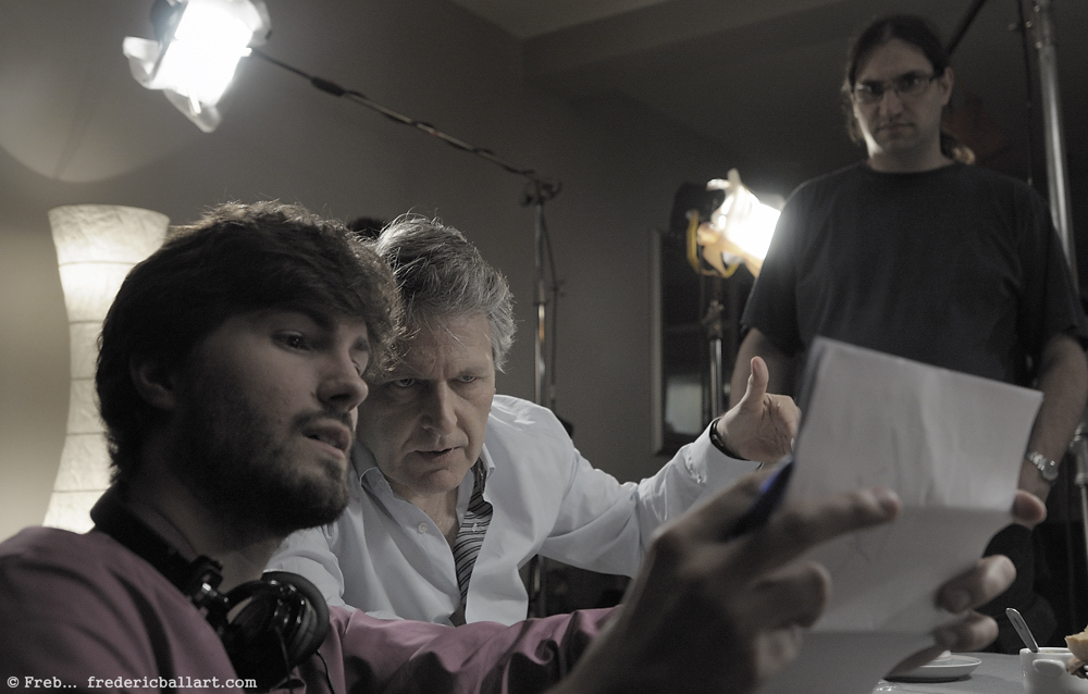 Directing actor Nicolas Marié