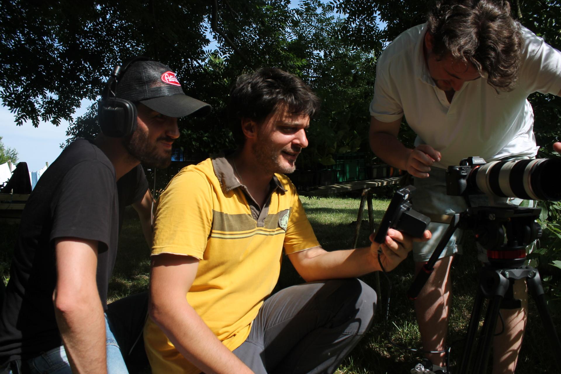 Yannig Dumoulin (center)